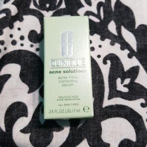 Clinique acne + line correcting serum(travel)
